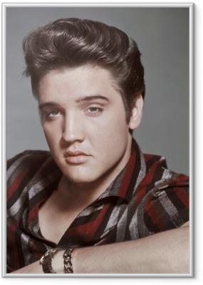 Gerahmtes Poster Elvis Presley