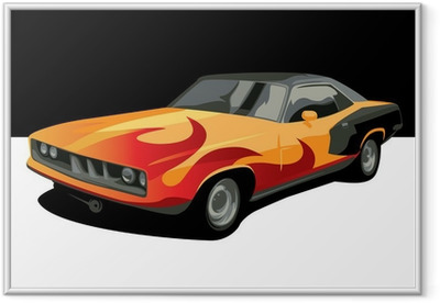Gerahmtes Poster Muscle car