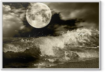 Full moon Framed Poster