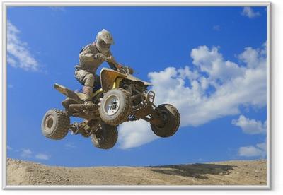 quad jump Framed Poster