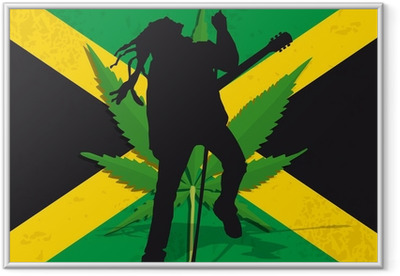 Ingelijste Poster Rasta Jamaïque