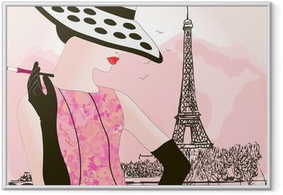 Poster in Cornice Moda donna a Parigi