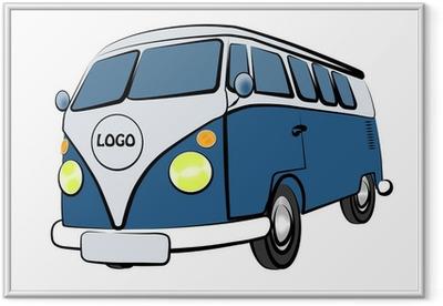 Poster i Ram VW Bus