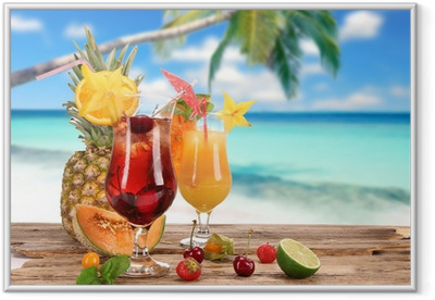 Poster in Cornice Cocktail sulla spiaggia