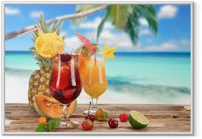 Poster en cadre Cocktails sur la plage