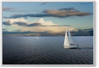 Póster Enmarcado Sail boat