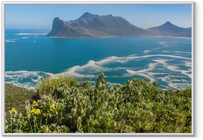 Ingelijste Poster Mening van Hout Bay van Peak Drive Chapman's, Zuid-Afrika