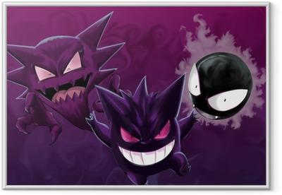 Gerahmtes Poster Pokémon