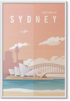Poster en cadre Sydney. affiche de vecteur.