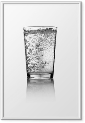 Gerahmtes Poster Glass of water
