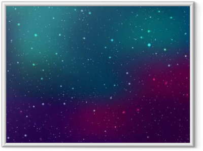Space background with stars and patches of light. Abstract astronomical galaxie illustration. Framed Poster