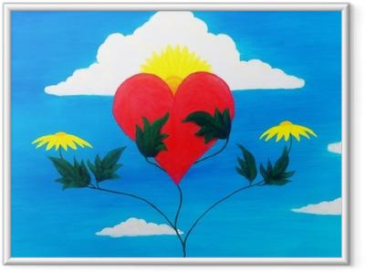 Innrammet plakat Helbredende kraft i naturen pleie og gjenopprette hjertet med sine krefter.
