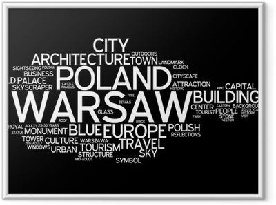 Póster com Moldura Warsaw