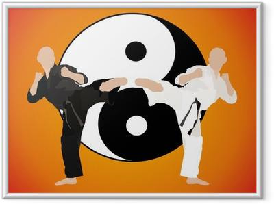 karate - fight duel (jing jang) Framed Poster