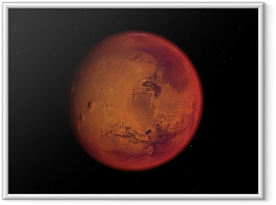 Gerahmtes Poster Planeten Mars