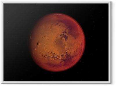 Poster en cadre Planète mars