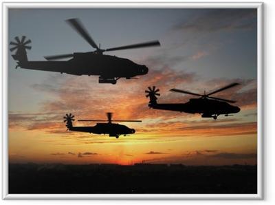 Ingelijste Poster Helicopters