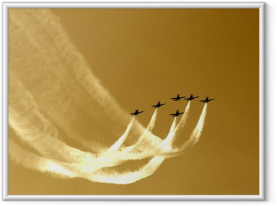 synchronized team flight- flying in formations Framed Poster