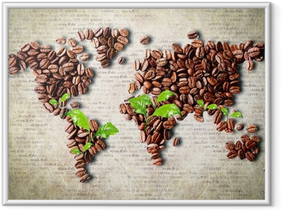 Coffee around the world Framed Poster