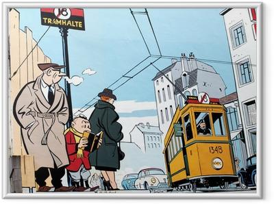 Ingelijste Poster Muurschildering in Brussel