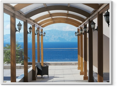 Gerahmtes Poster Blick auf die Insel Gomera