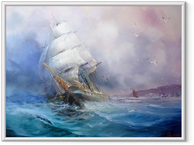 Seascape Sea breeze Framed Poster