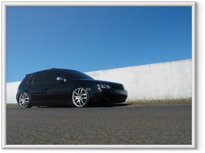 Ingelijste Poster Zwarte auto