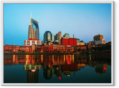 Downtown Nashville cityscape in the morning Framed Poster
