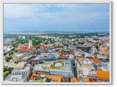 Gerahmtes Poster Luftbild zur Stadt Leipzig