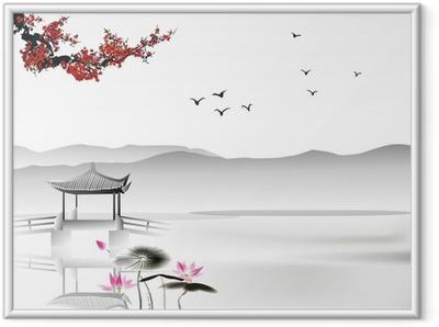 Ingelijste Poster Chinees schilderij