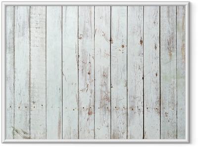Poster en cadre Fond noir et blanc de la planche en bois