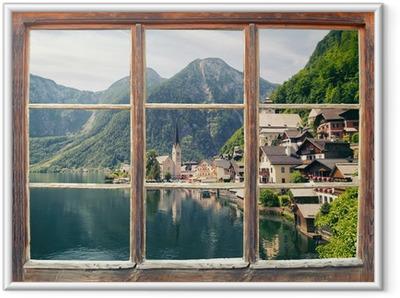 Gerahmtes Poster Fensterblick Hallstatt