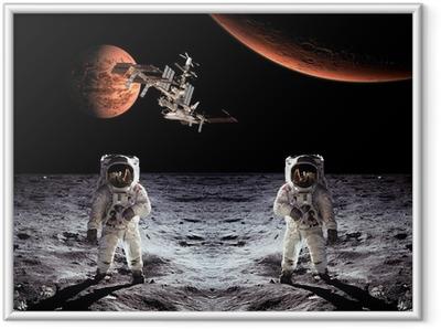 Ingelijste Poster Astronauten Spaceman Moon Planeten