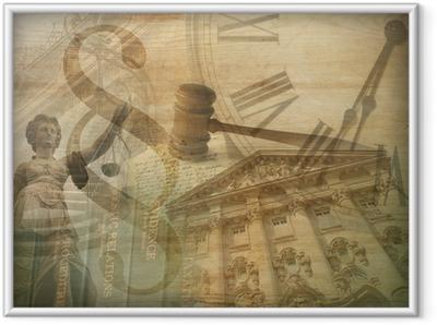 Ingelijste Poster Justitie Collage