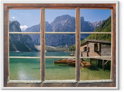 Plakat w ramie Widok z okna