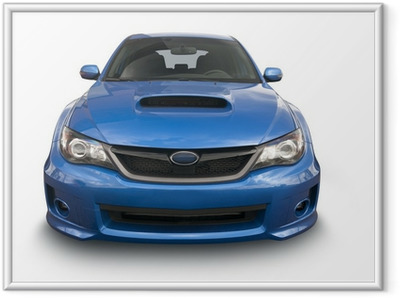 Poster in Cornice Blu auto sportive