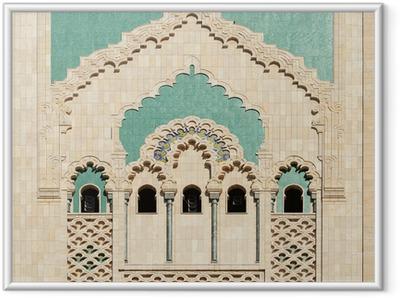 Poster en cadre Maroc. Détail de la Mosquée Hassan II à Casablanca