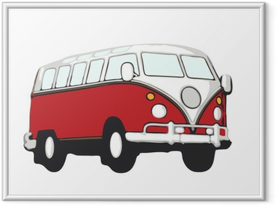Poster i Ram Roter vw bus hippie