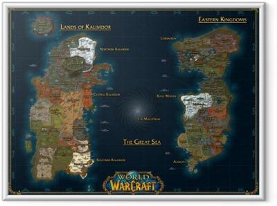 Ingelijste Poster World of Warcraft