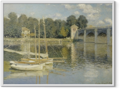 Claude Monet - Bridge at Argenteuil Kehystetty juliste