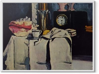 Gerahmtes Poster Paul Cézanne - Die schwarze Marmoruhr