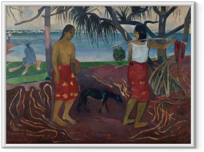 Ingelijste Poster Paul Gauguin - I raro te oviri (Onder de Pandanus)