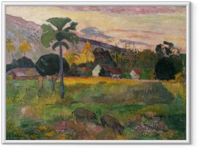 Poster en cadre Paul Gauguin - Haere mai (Viens ici)