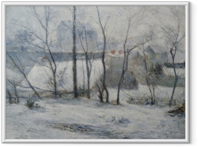 Ingelijste Poster Paul Gauguin - Winterlandschap