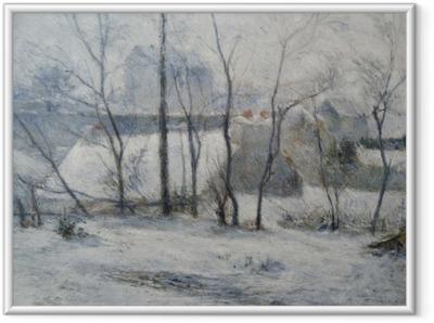 Poster en cadre Paul Gauguin - Jardin sous la neige I