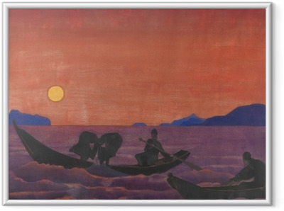 Nicholas Roerich - And We Continue Fishing Framed Poster