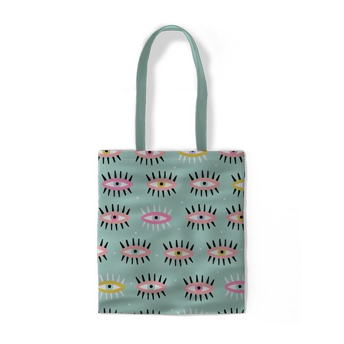 Abstraktní barevné oči Bavlněné tašky -