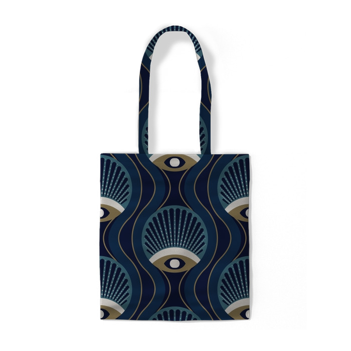 Motif géométrique de style années 1950 Sacs en coton -