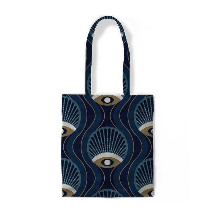 Geometry pattern stylish 50's style Cotton bags - cotton_bags_row2_4