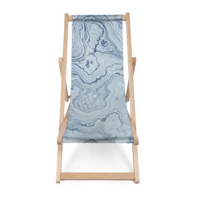 Leżak plażowy Bezszwowych tekstur niebieskiego marmuru na wzór tła / ilustracji